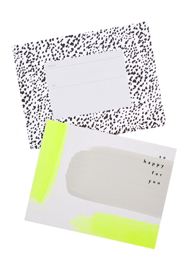 Happy For You Neon Painted Card - LEIF