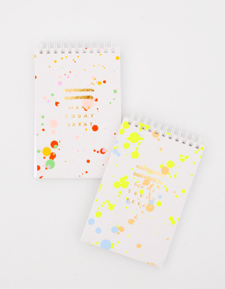 2: Splattered Jotter Spiral Notepad in  - LEIF
