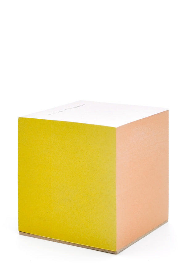 Yellow Multi: Painted Edge Sticky Notes in Yellow Multi - LEIF