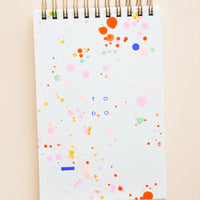1: Rainbow Splatter To Do List Notepad in  - LEIF
