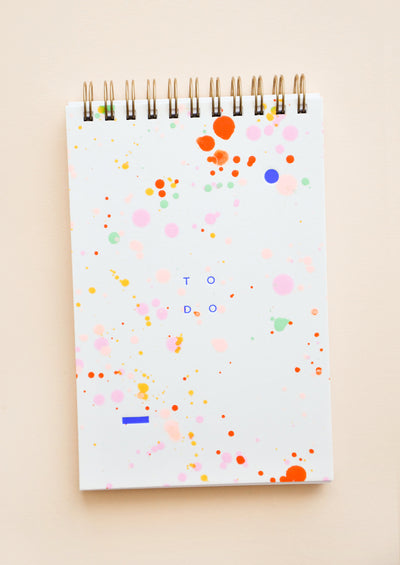 Rainbow Splatter To Do List Notepad