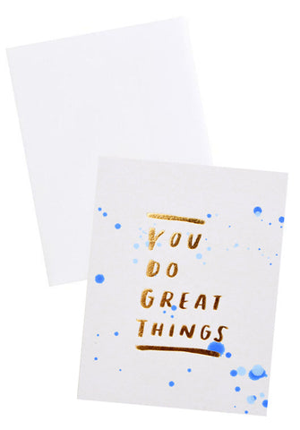 You Do Great Things Card - LEIF