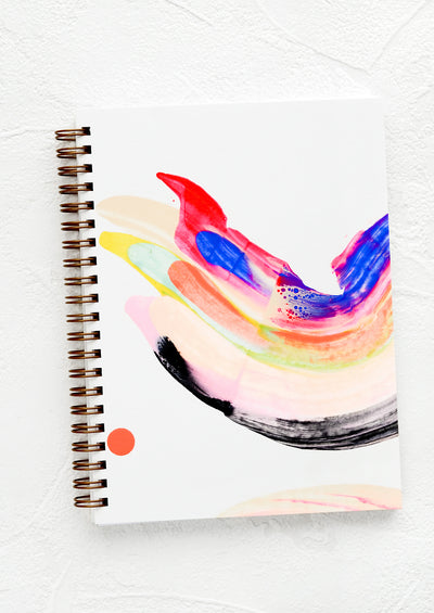 Rainbow Swirl Painted Journal