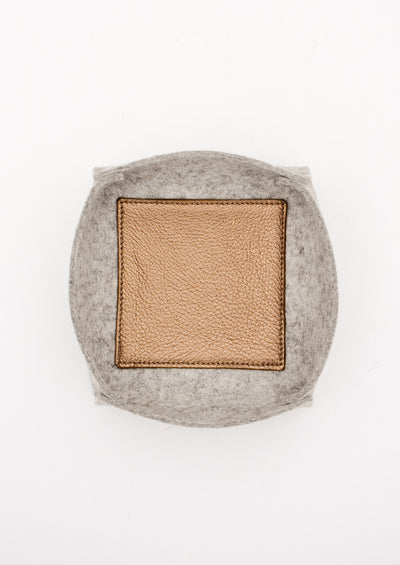 Felt & Leather Catchall Tray hover