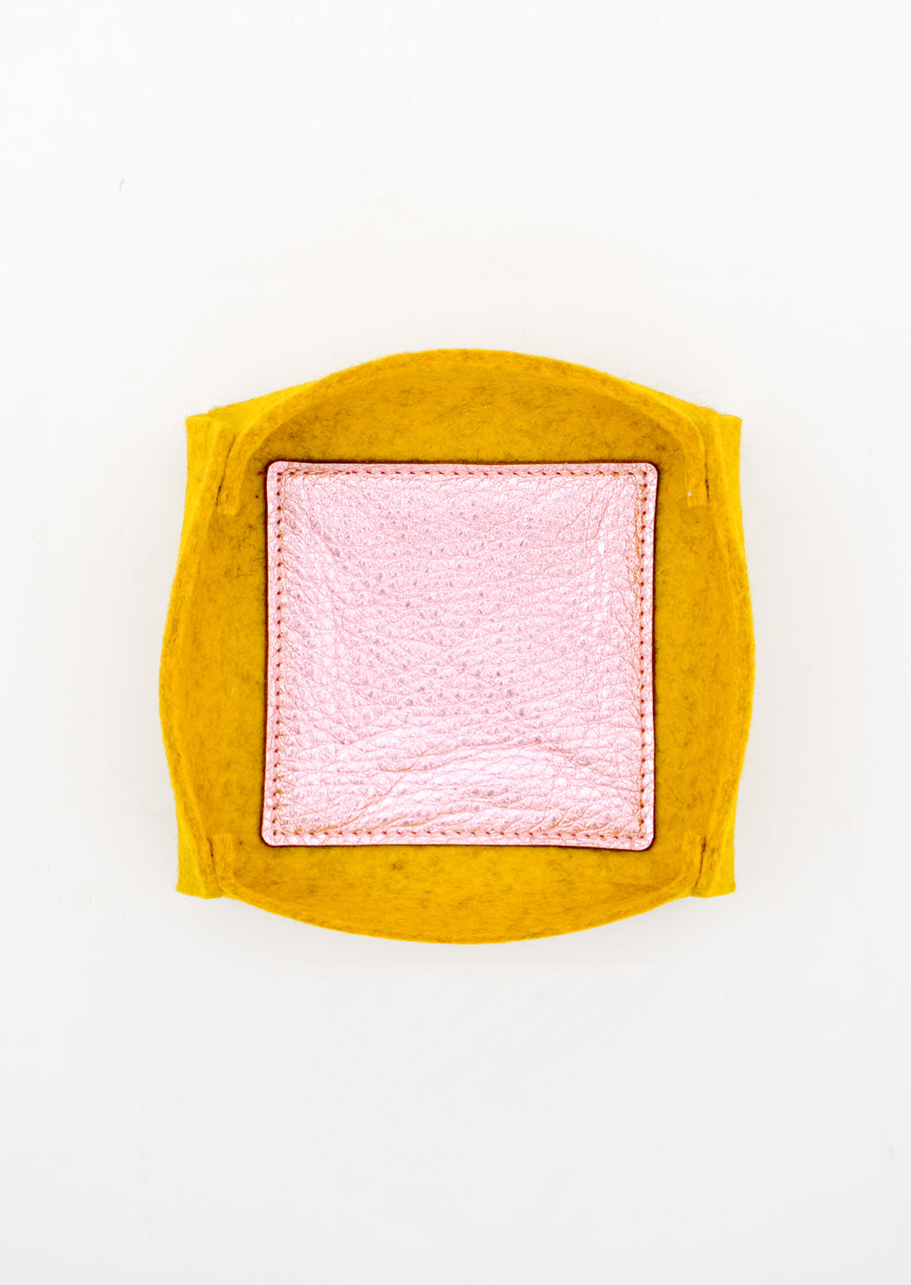 Felt & Leather Catchall Tray