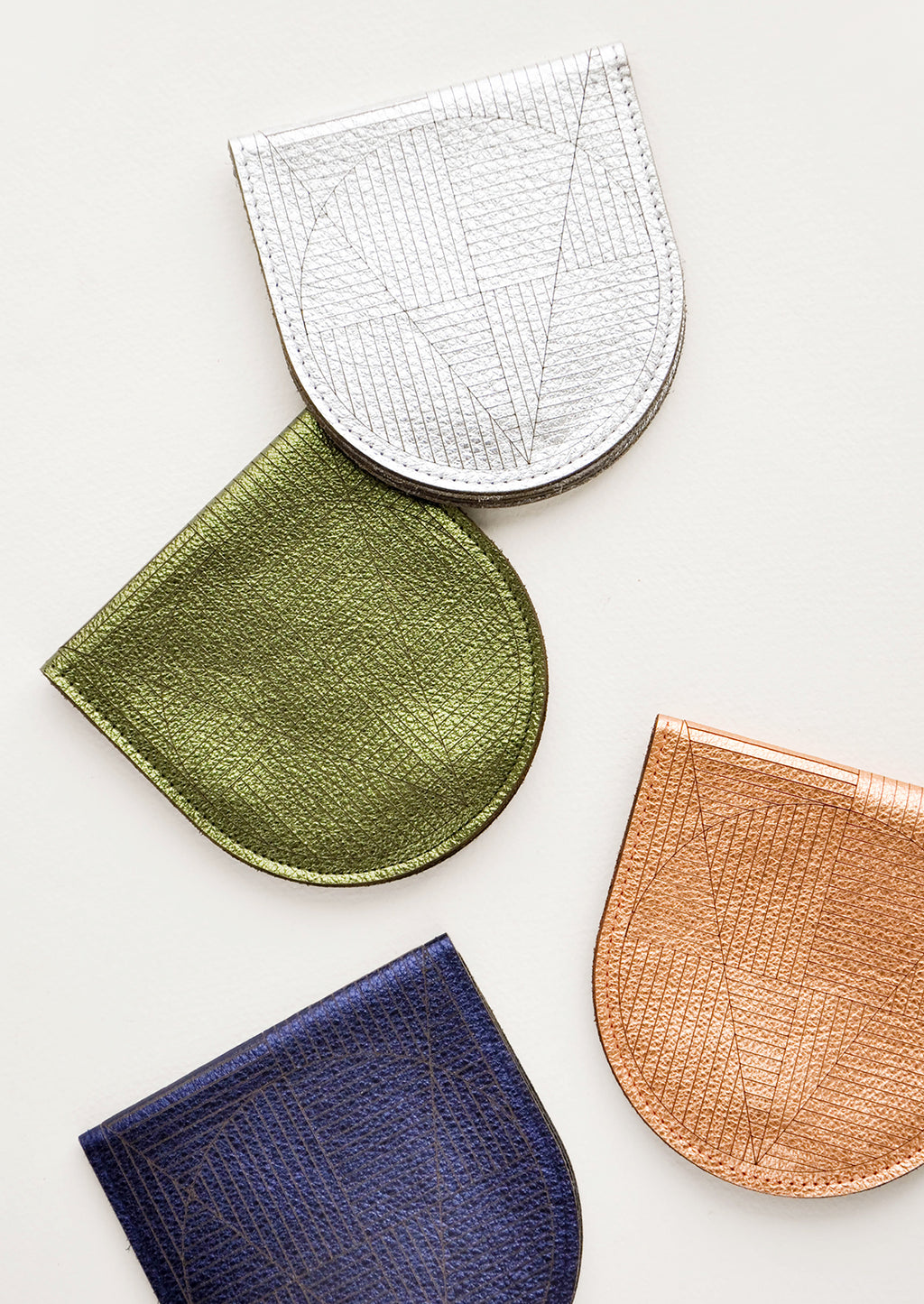 2: Geo Etched Leather Wallet in  - LEIF