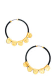 Leather Scallop Hoop Earrings - LEIF