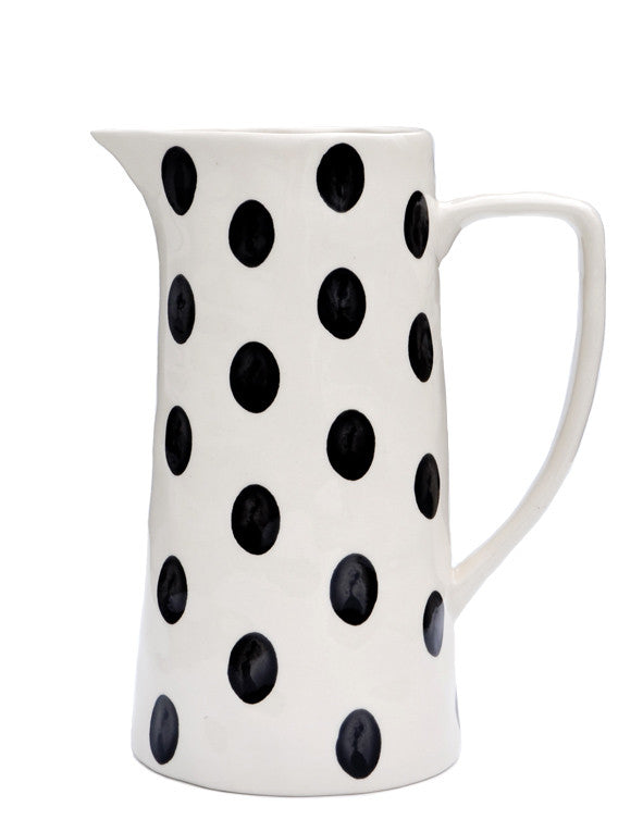 Monochrome Dot Pitcher