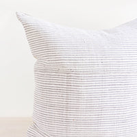 Monochrome Stripe Hemp Pillow in  - LEIF