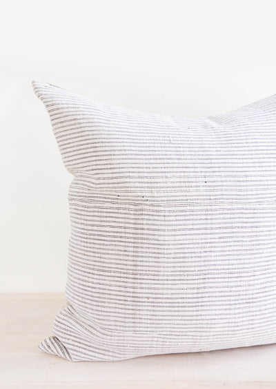 Monochrome Stripe Hemp Pillow