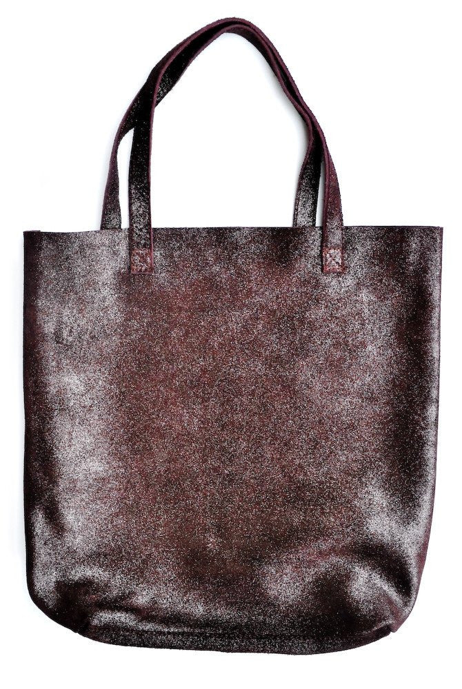 Cava Shimmer Suede Tote