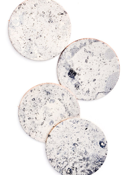Moon Leather Coasters hover