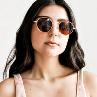 3: Moon Shot Round Sunglasses in  - LEIF