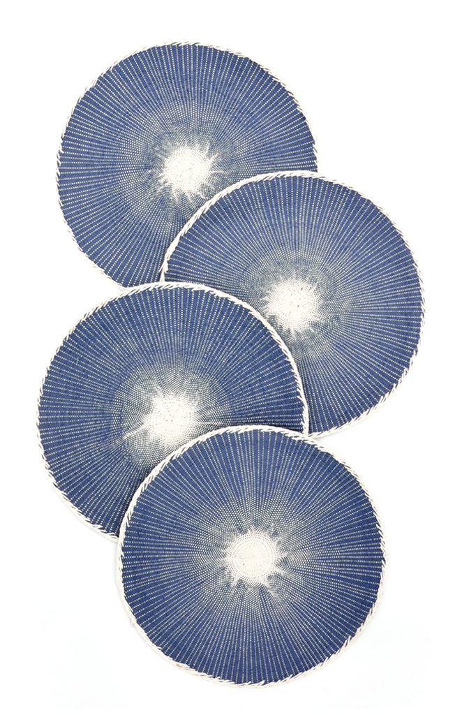 Indigo: Moonglow Placemat Set in Indigo - LEIF