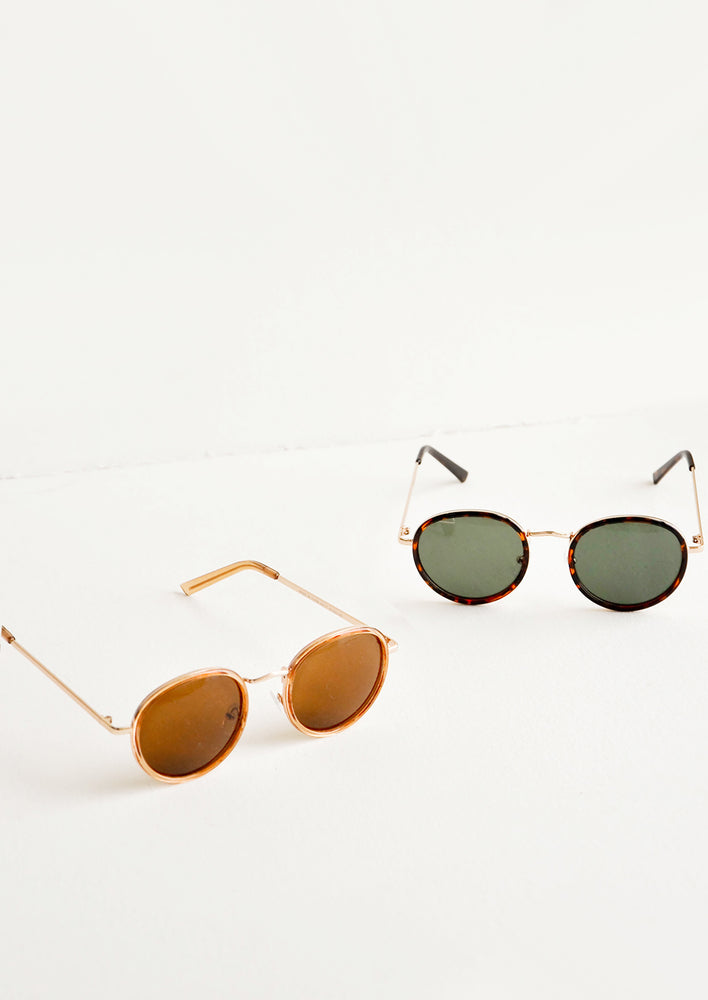 4: Moon Shot Round Sunglasses in  - LEIF