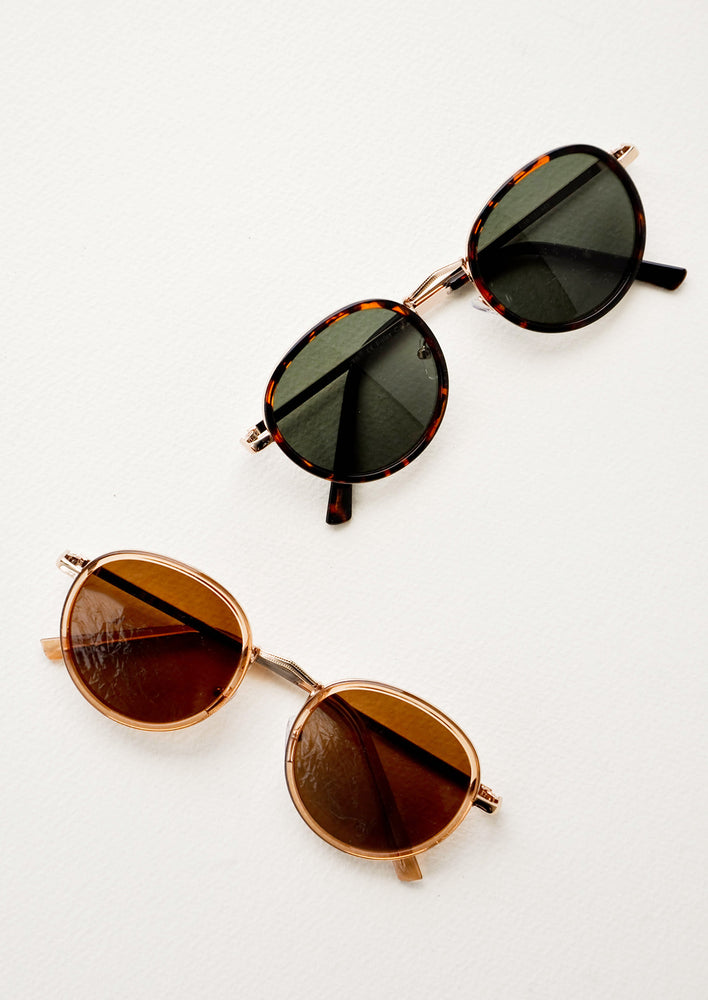 Moon Shot Round Sunglasses in  - LEIF