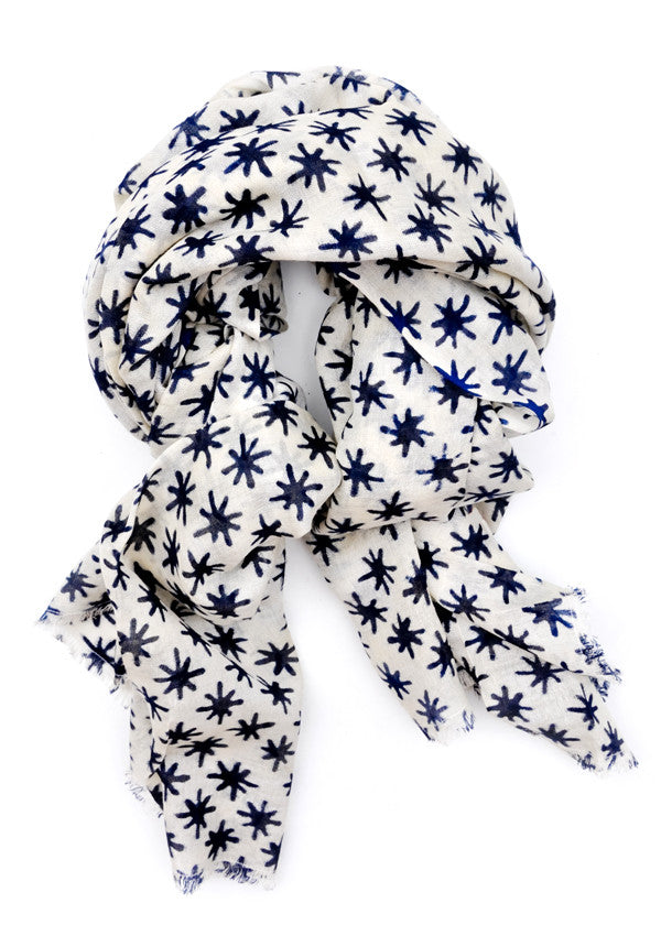 Moroccan Nights Wool-Silk Scarf - LEIF