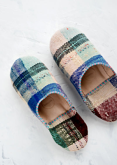 Moroccan Boujad Fabric Slippers