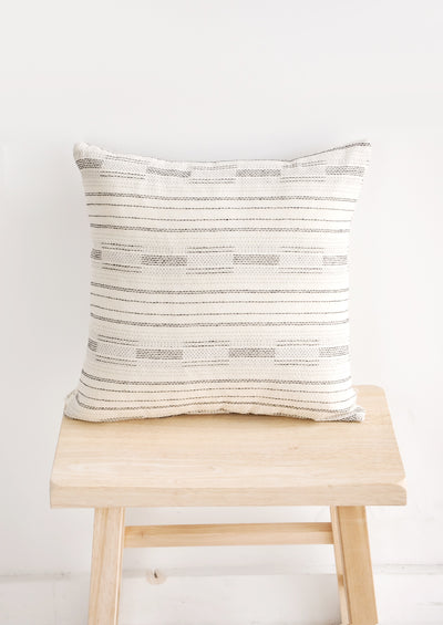 Morse Stitch Pillow