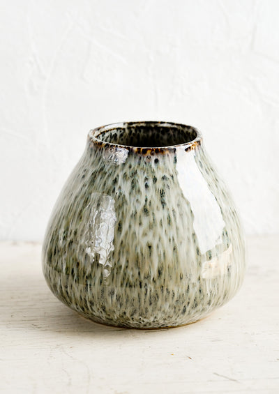 Mossy Speckle Ceramic Vase