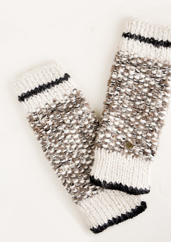 Mottled Alpaca Fingerless Gloves