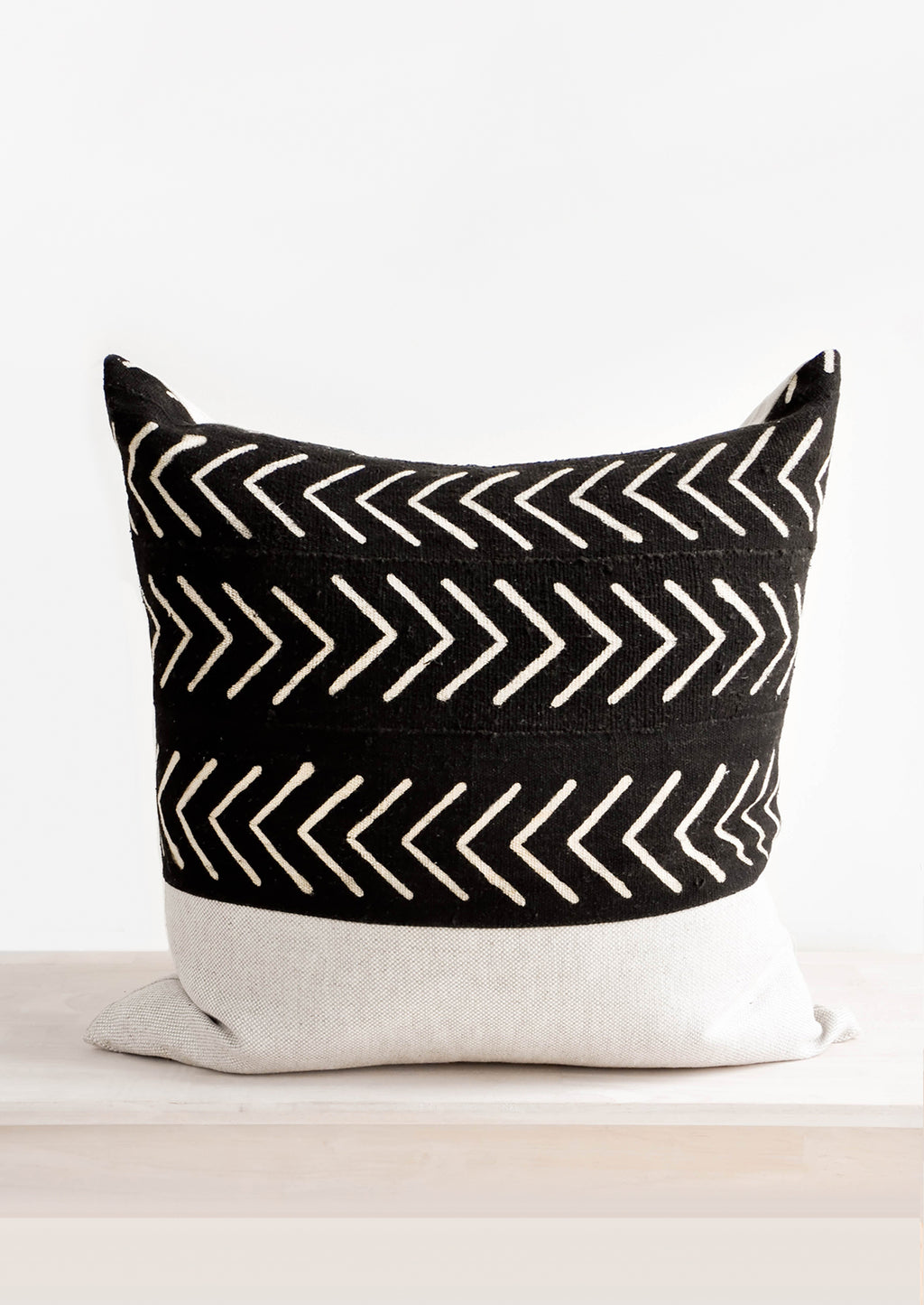 1: Mudcloth Applique Pillow in  - LEIF