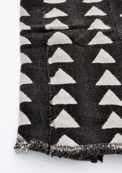 Triangles Mudcloth Throw