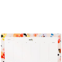 Painterly Floral: Week Of Agenda Pad in Painterly Floral - LEIF