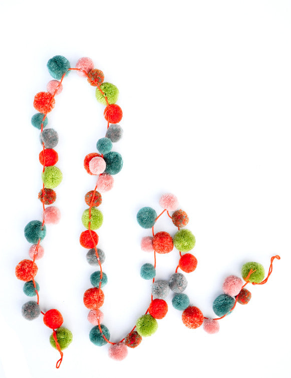 Multicolor Pompom Garland - LEIF