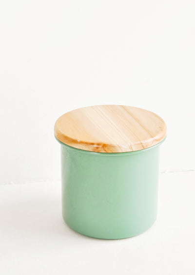 Muted Hue Enamel Jar