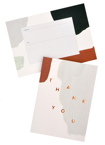 Muted Thank You Card Set