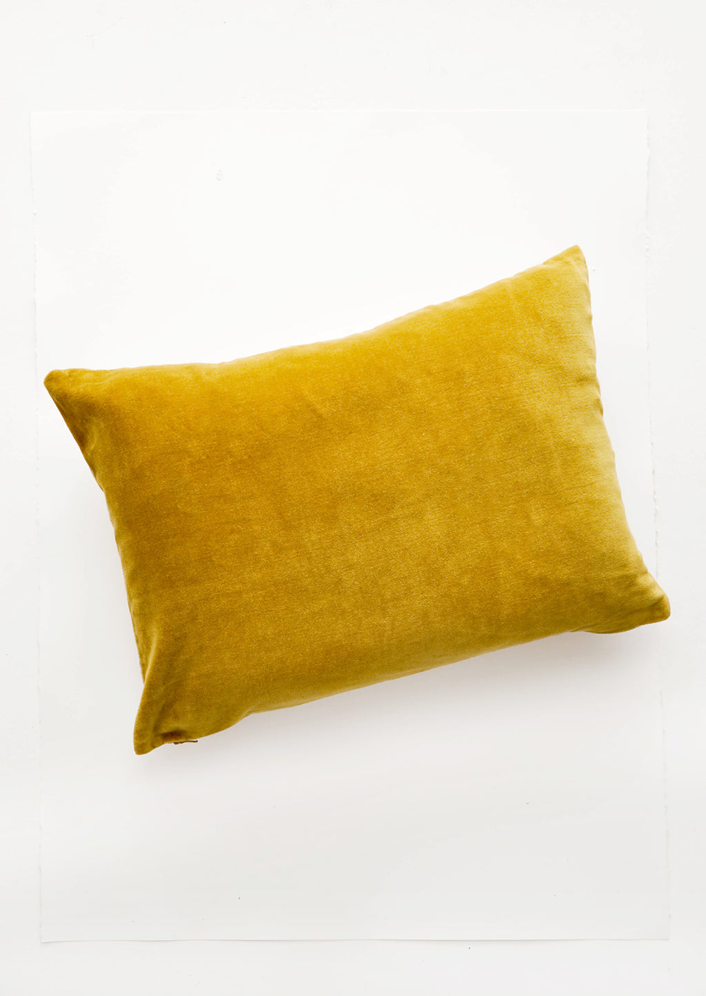 "Muted Velvet Pillow in Chartreuse / 14"" x 20"" - LEIF"