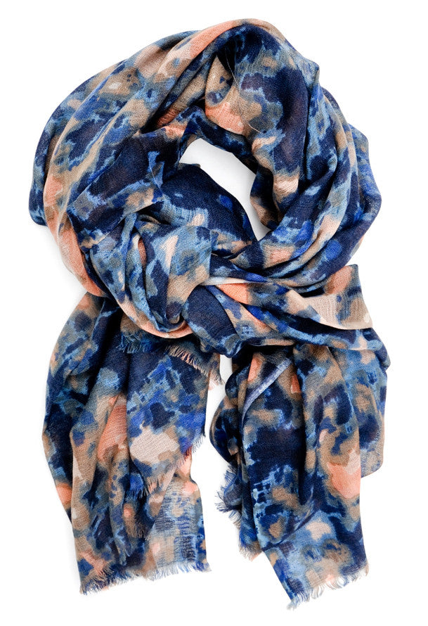 Muted Watercolor Wool Scarf - LEIF