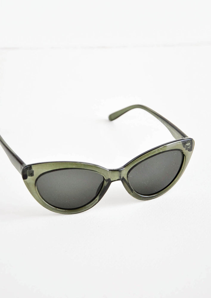 Olive Green: My Melody Sunglasses in Olive Green - LEIF