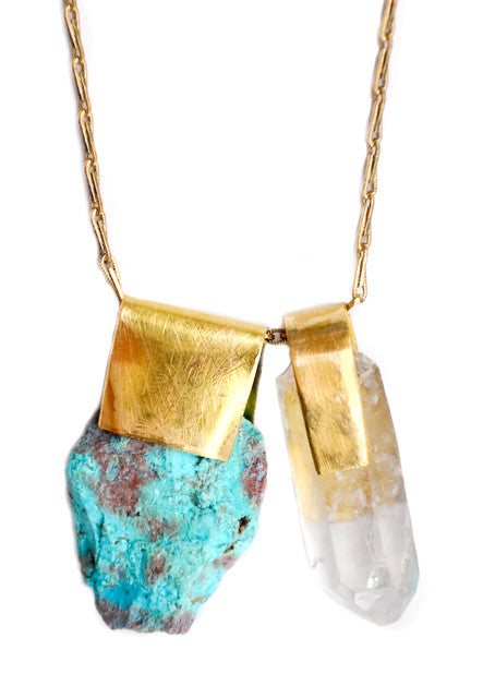 Chrysocolla & Quartz Necklace - LEIF