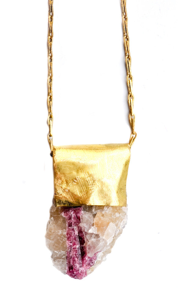 Pink Tourmaline Necklace - LEIF