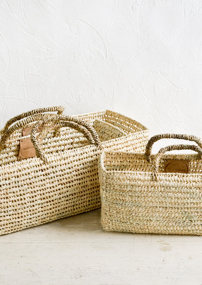 Palm Leaf Narrow Storage Basket hover