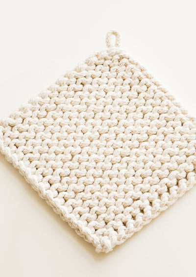 Natural Knit Potholder in Cotton - LEIF