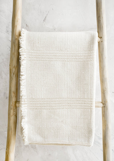 Natural Cotton Woven Throw