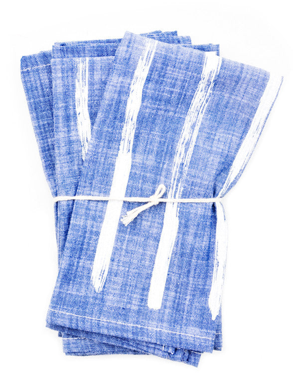 Brush Stripe Napkin Set - LEIF