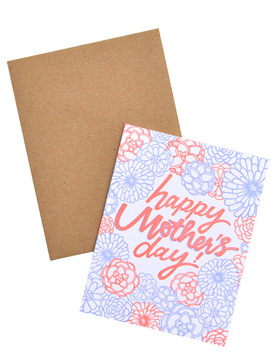 1: Neon Bloom Mother's Day Card in  - LEIF