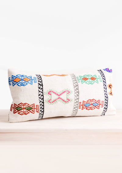 Neon Embroidered Kilim Pillow hover