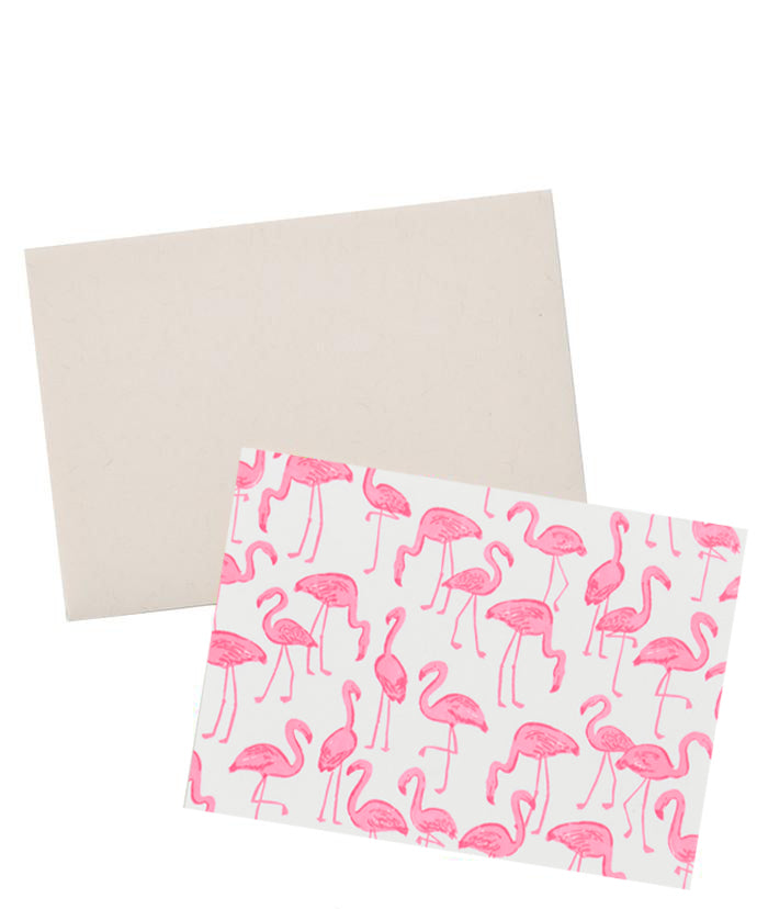 Neon Flamingos Blank Card - LEIF