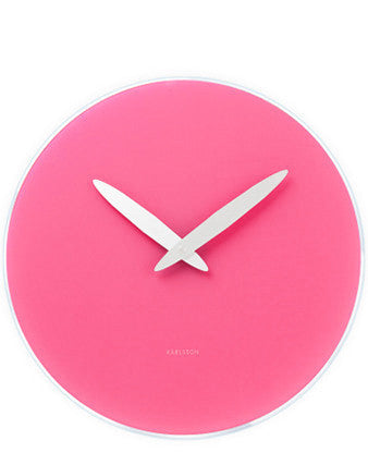 Neon Glass Wall Clock - LEIF