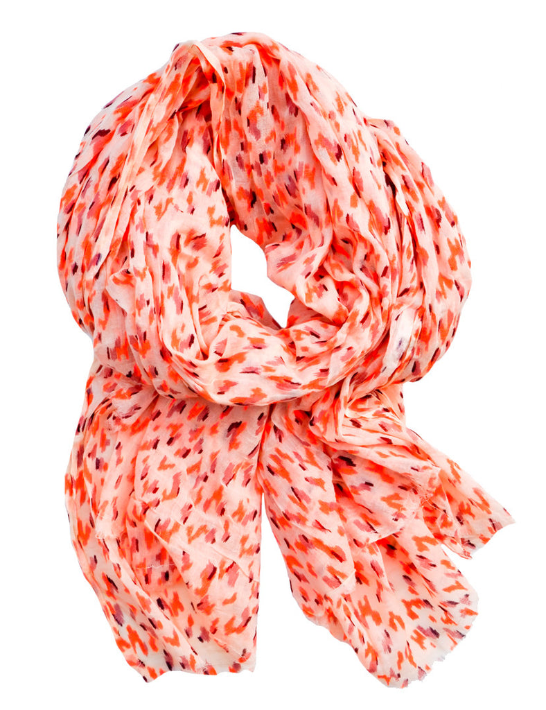 Neon Ikat Cotton Scarf - LEIF