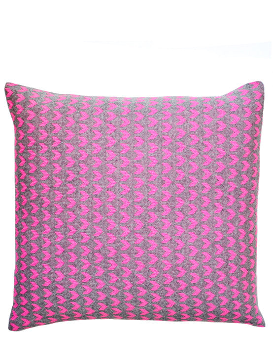 Neon Arrow Knit Pillow