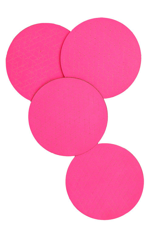 Neon Leather Coasters - LEIF
