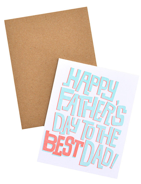 Neon Shadow Father's Day Card - LEIF