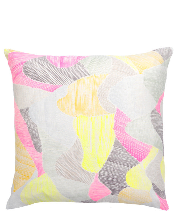 Neon Sketch Pillow Cover - LEIF
