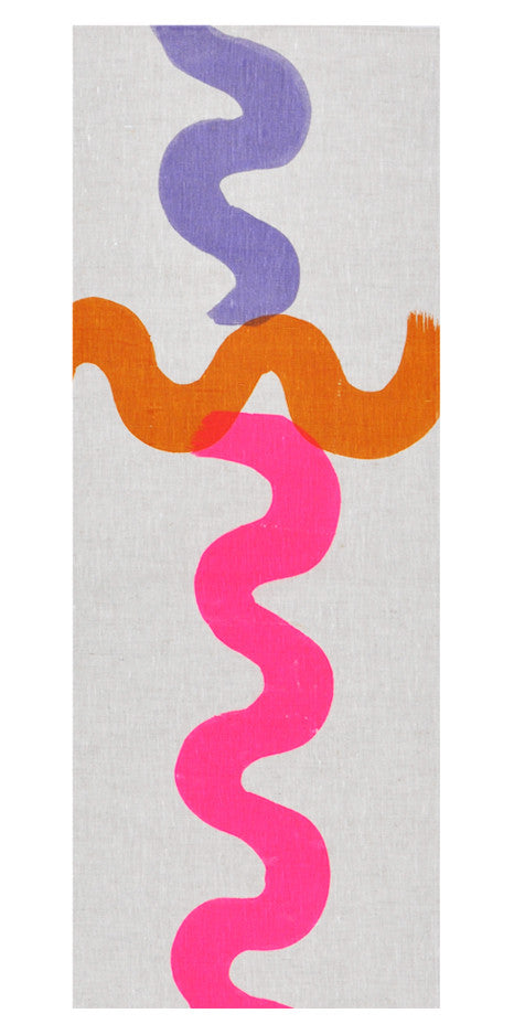 2: Neon Squiggle Table Runner in  - LEIF